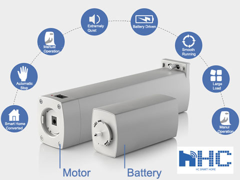 HC Battery-powered electric curtain tracks