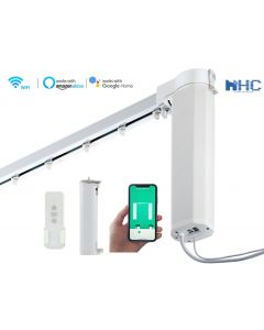 HC-SMART-HOME Smart Curtain Tracks for Straight Curved and Bay Windows works with Alexa  and Google Home
