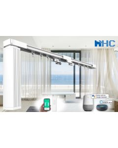 HC-SMART-HOME 4-meter-long DIY Smart Curtain Tracks - Works with Amazon Alexa and Google Home IFTTT