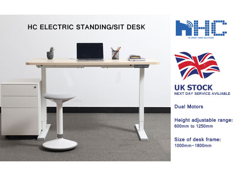 HC Electric Height-adjustable Standing/Sit Desk, power desk frame