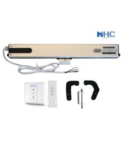 Electric Window Opener and Window Actuator with Remote Control and Wall Switch