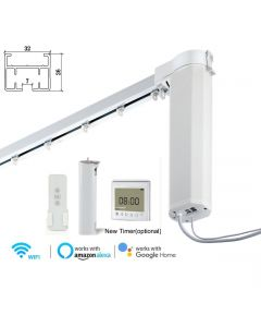 Remote Control Smart Electric Curtain Tracks, built-in integration with Amazon Alexa and Google Home