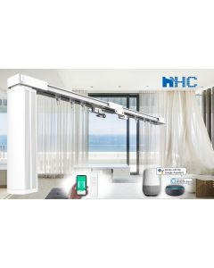 HC 2-meter-long DIY Smart Curtain Tracks - Works with Amazon Alexa and Google Home IFTTT